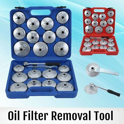 23PC Cup Type Aluminium Oil Filter Wrench Removal Socket Remover Tool Kit & Case