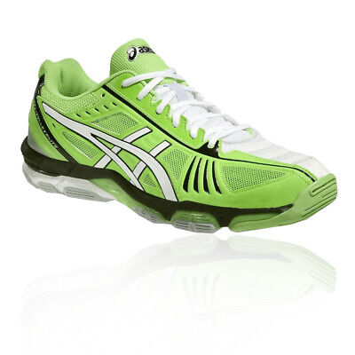 Asics Mens Gel-Volley Elite 2 Court Shoes Green Sports Netball Squash Trainers