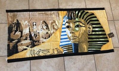 New Lot Of 12 Towels Ancient Egyptian Theme Egyptian Cotton Cleopatra King Tut