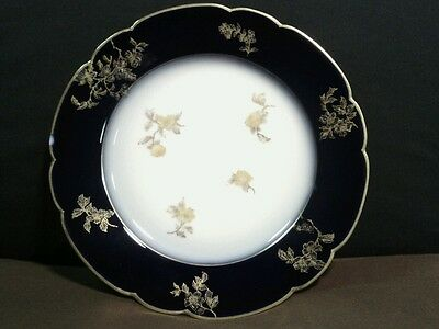 Exquisite Antique Haviland CFH/GDM Limoges Cobalt Blue/Gold Plate,France