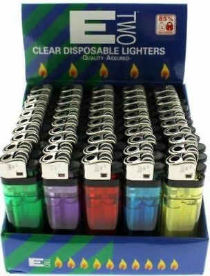 Disposable Lighters Adjustable Flame  Child Safety Multi Colours