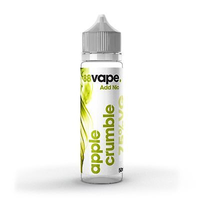 50ML 88 E Liquid omg   Vape Juice  Apple  0MG free Nic shot 15mg