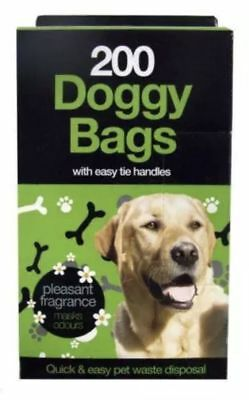 DOGGY BAGS Scented  Bag Dog Cat Poo Waste Toilet Tie Handle