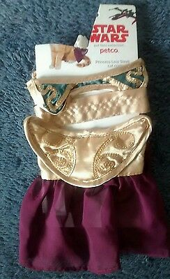 Star Wars Petco Halloween Dress-up Purple Princess Leia Slave Cat Costume