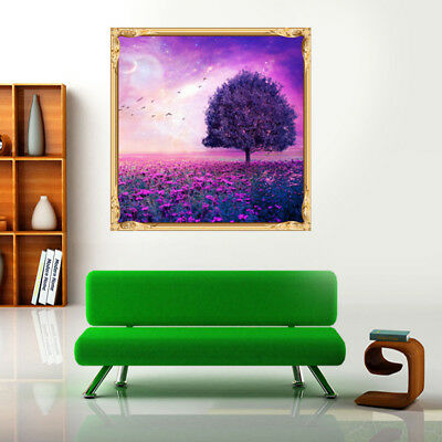 Frameless Diamond Painting of Butterfly and Blue Flowers Delicate Stitch Crafts