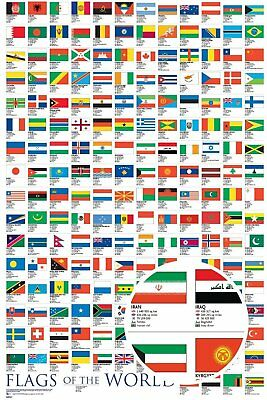 Flags Of The World 91.5X61Cm  Maxi Poster New Official