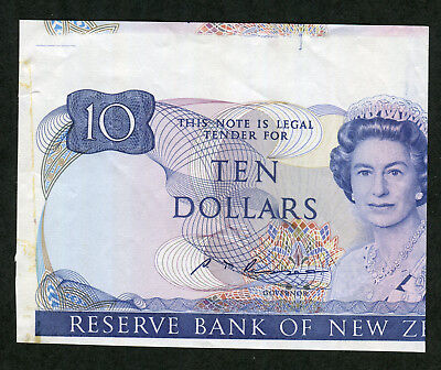 Extremely Rare NEW ZEALAND Reserve Bank Portion of Specimen Ten Dollars cf.P.17
