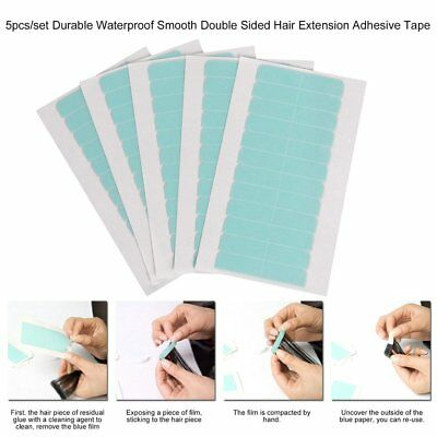60Tabs Super Strong Blue Double Sided Tape Adhesive Skin Tape Hair Extensions H4