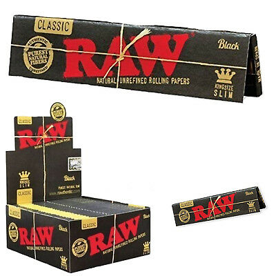 Black Classic Raw King Size Natural Unrefined Smoking Rolling Papers(2,4,6,8&10)