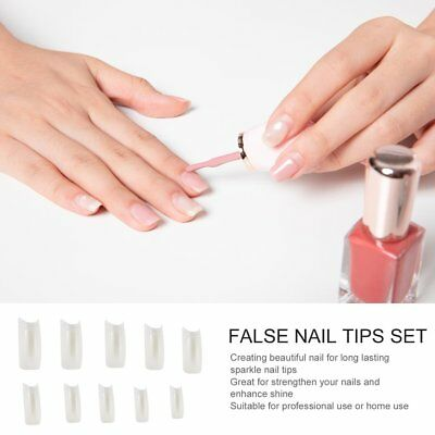 500 Pieces Full Cover French Artificial False Nail Tips For DIY In Box U8