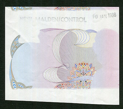 Extremely Rare NEW ZEALAND Reserve Bank portion Specimen of ten dollars 1985-89