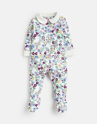 Joules 124940 Babygrow With Collar in CREAM DITSY BEE