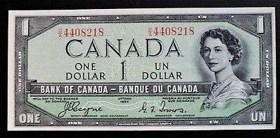 1954 BANK OF CANADA $1 DOLLAR DEVIL'S FACE **Coyne & Towers** B/A4408218 BC-29a