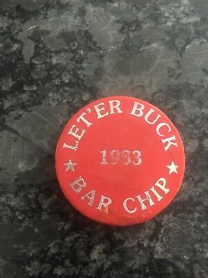 Vintage Rodeo Token Pendleton Roundup Oregon BAR CHIP Let 'er Buck Room 1983