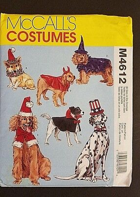 Mccall's M4612  2004 6 Dog Costumes Halloween Oop 2004 Factory Folded Complete