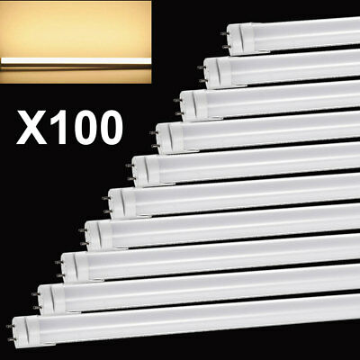 100X 120cm 18W LED Leuchtstoffröhre Leuchtstofflampe T8 Tube Warmweiβ Röhrenlamp