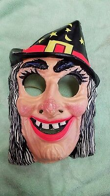 Vintage Halloween 1960's MASK - Witch - Ben Cooper - Made in U.S.A.