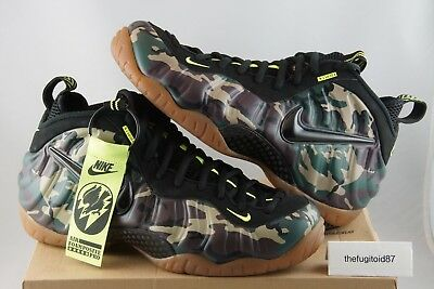 best website 176e8 dbac2 Nike Air Foamposite Pro Prm LE Green Camo Size 11 2013 Forest Black 587547  300