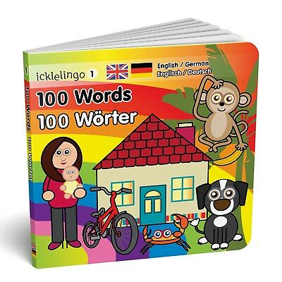 100 Words - English/German bilingual / dual language children's board book