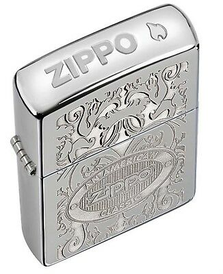 Zippo Pipe Lighter: American Classic, Crown Stamp - High Polish Chrome 24751PL