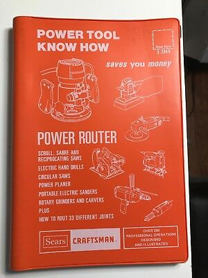 "(1985 VG) Sears Craftsman ""Router Power Tool Know How Book"" Revised"