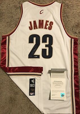 newest collection ffc98 772e8 LEBRON JAMES CLEVELAND Cavaliers Autographed Upper Deck Authentic Adidas  Jersey