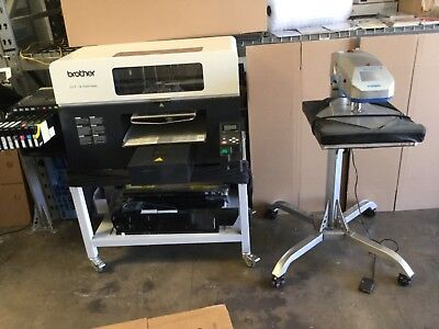 Brother GT-381 digital Garment Printer with 13k Prints 2 Heat Press Included