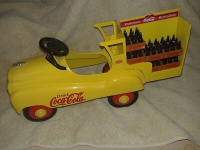 Coca Cola Limited Edition Metal Pedal Car Delivery Truck  By Xonex With 11 Soda