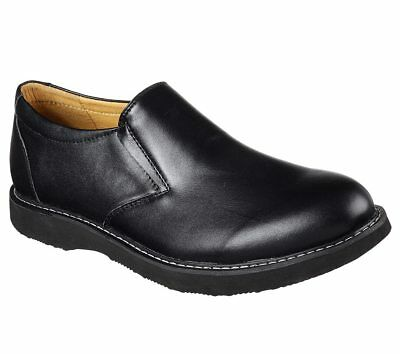65304 Black Skechers shoes Men Memory Foam Dress Casual Comfort Leather Slip On