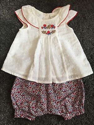 Baby Girls Floral Outfit From Next age 0-3 Months BNWOT