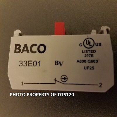 Lot of 5 Baco contact block new with out box 33E01