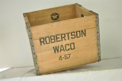 Antique Wood & Metal Crate from Robertson Milk Co. Waco, Texas Ice Cream Factory