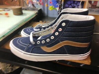 6d8fa65dd4 NWOB MEN S VANS SK8 HI VN0A2XSBQQJ (Denim C L) Dress Blues Shoes ...