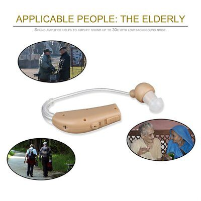 Rechargeable Hearing Aids Sound Voice Amplifier Low Noise Behind The Ear G@