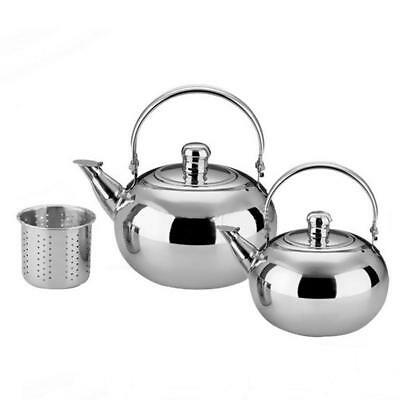 1/1.5/2.5L Durable Stainless Steel Kettle Teapot With Filter Strainer Coffee Pot