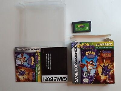 Crash And Spyro Superpack Gameboy Advance Game Gba - Complete Cib Free Shipping!