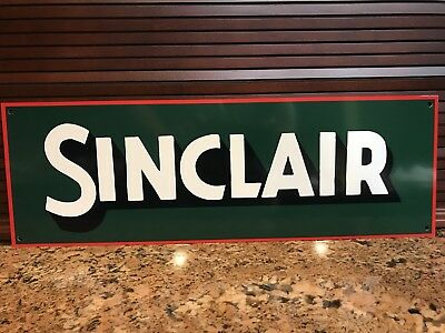 Sinclair Opaline Oil gas Gasoline advertising 18 Inch Metal sign