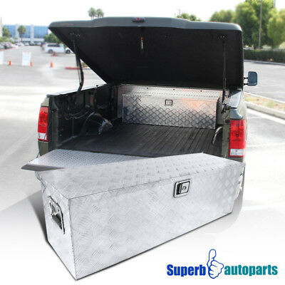 "49""x15""x15"" Truck Pickup Flat Bed Tool Box Underbody Storage Trunk w/Lock"