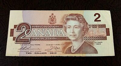 Canada 1986 Ottawa Bank of Canada $2 Note P94b Thiesen & Crow Sign (BRE4331111)