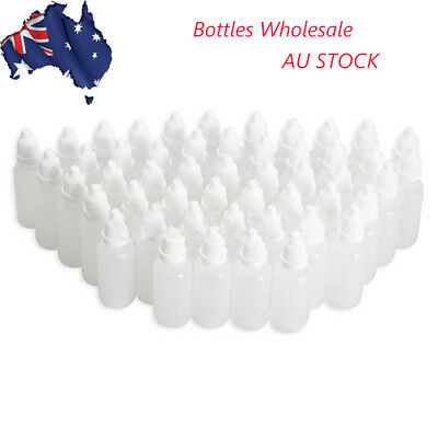 5/10/15/20/30/100ml Empty Plastic Squeezable Dropper Bottles Containers AU STOCK