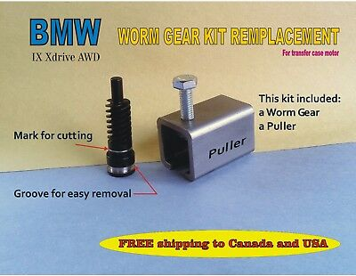 BMW Transfer case motor worm gear Replacement + puller 4x4 ABS warning light on
