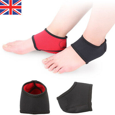 2Pcs Foot Heel Ankle Wrap Pads Socks Arch Plantar Fasciitis Therapy Pain Relief