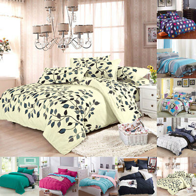 All Size Duvet with Pillow Case Quilts Covers Bedding Set Single Double King