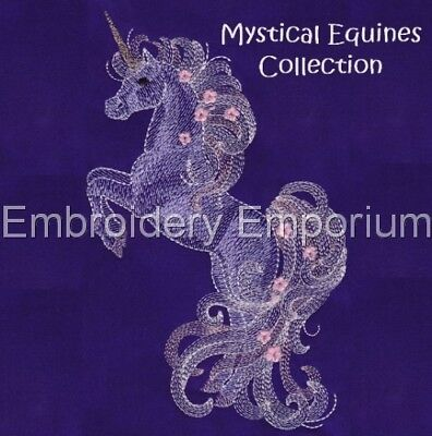 Mystical Equines Collection - Machine Embroidery Designs On Cd