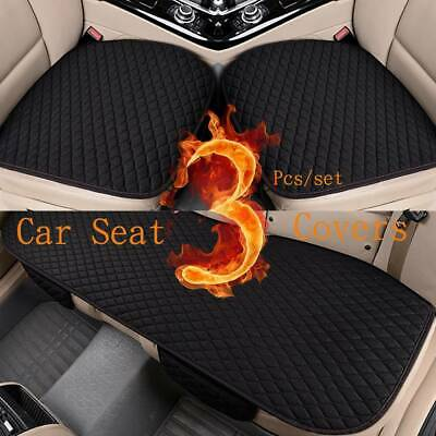 3X Black Auto Car Seat Covers Protect Cushion Chair Mat Pad Full Set Front Rear