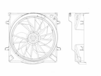 Radiator Cooling Fan Assembly For 2002 2003 2004 Jeep Liberty Suv