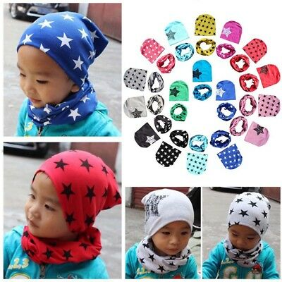 Chic Baby Newborn Hat Girl Boy Kids Autumn Winter Cap + Cotton Scarf Collar Set