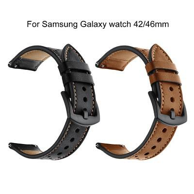 20/22mm Leather Replacement Wrist Band Strap For Samsung Galaxy Watch 42/46mm