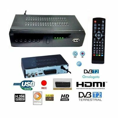 Decoder Ricevitore Digitale Terrestre Dvb-T2 Tv Scart Hdmi 1080P Ds