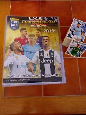 PANINI FIFA 365 2019 COLLECTORS ALBUM + FULL SET OF 192 BASE CARDS Adrenalyn XL